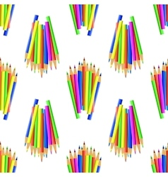 Colorful Pencils Seamles Pattern vector