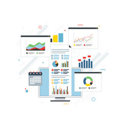 concept finance investment planning analytics vector image