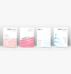 cover page design template geometric brochure vector image