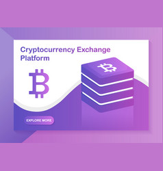 cryptocurrency exchange platform web-design vector image