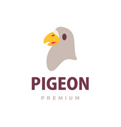 cute pigeon flat logo icon vector image