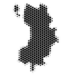 Dot halftone koh tao thai island map vector