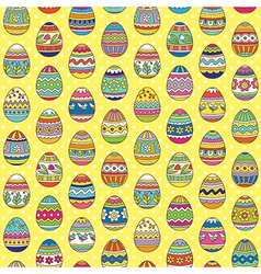 easter pattern yellow vector image