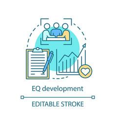Eq development concept icon vector