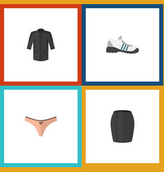 flat icon dress set of uniform stylish apparel vector image