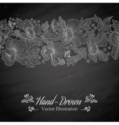 Flower on a blackboard vector image