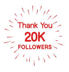 Followers 20k design vector
