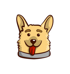 Funny dog on white vector