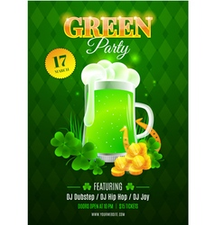 Green party flyer vector image