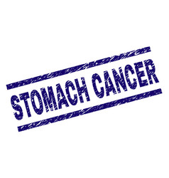 Grunge textured stomach cancer stamp seal vector