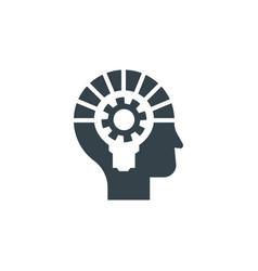 head bulb gear concept logotype template design vector image