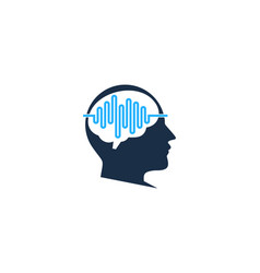 head wave logo icon design vector image