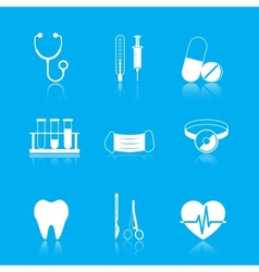 Health care tools icons set vector image