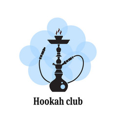 Hookah silhouette for club vector