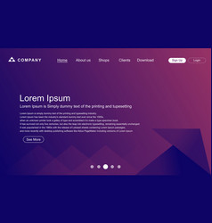 Landing page abstrack background vector