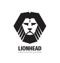 Lion head - logo template creative vector