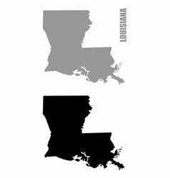 louisiana state silhouette maps vector image