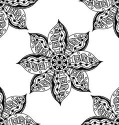 mandalas seamless pattern vector image