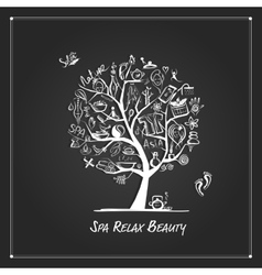 Massage and spa tree for your design vector image