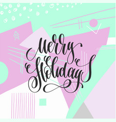 merry christmas - hand lettering poster to winter vector image