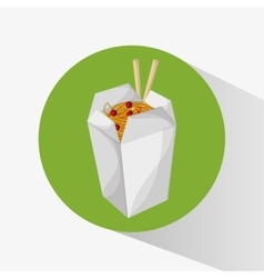 Noodle of fast food concept vector