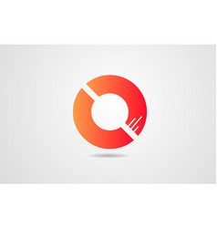 o orange alphabet letter logo icon design vector image