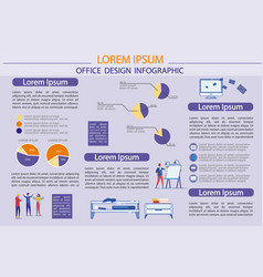 office design - infographic with creative people vector image