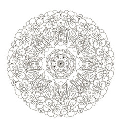 oriental pattern coloring traditional round vector image
