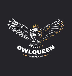 Owl logo - emblem design vector
