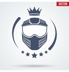 Paintball sports Signs and Label vector image