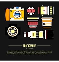 Photographer or photostudio concept design vector