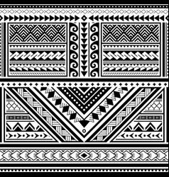 Polynesian tattoo seamless pattern hawaii vector