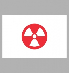 radiation sign on japan flag vector image