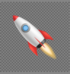 realistic 3d detailed rocket space ship vector image