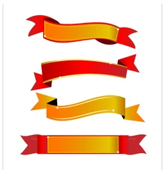 Red and gold banner vector