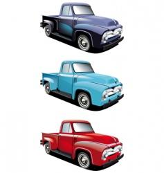Retro style pickup vector