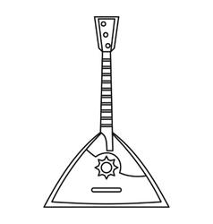 Russian balalaika icon outline style vector
