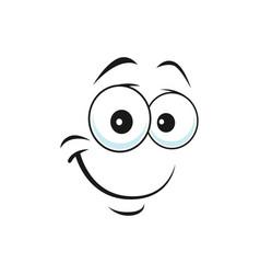 Satisfied emoji support center bot with kind smile vector