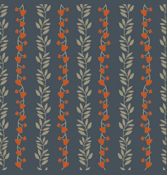 seamless background pattern with vines tree vector image