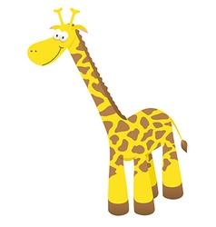 Smiling cartoon giraffe vector