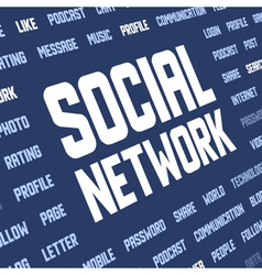 social network keywords vector image