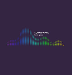 sound wave equalizer on dark vector image