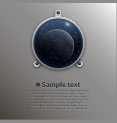 spaceship window vector image