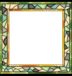 Stained-glass window frame for photography vector