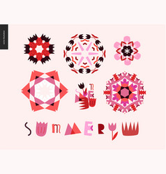 summer kaleidoscopic patterns vector image