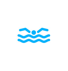 swimming logo icon vector image