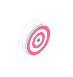 target isometric icon vector image