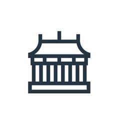 Temple icon editable stroke linear vector