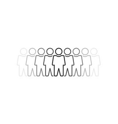 thin line group people like society vector image