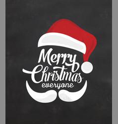 Typographic christmas design with santa vector